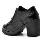 Ankle boot feminino qea menina brasil 19000 verniz preto