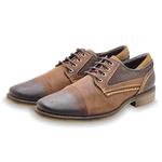 Sapato Casual Masculino em Couro 33518 Café 205
