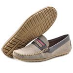 Mocassim Masculino Sapato de Franca 1610 Taupe 313