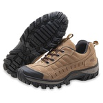 TÊNIS ADVENTURE COURO LEGÍTIMO STRONG FRONT TREKKING STOP BOOTS - R40 - MARFIM 789