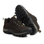 Tênis Adventure Couro Legítimo Strong Front Trekking Stop Boots - R40 - Café - 1081
