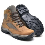 Bota Coturno Stop Boots - R45 - Crazy Horse - Cafe - 1087