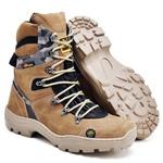 Bota Coturno Stop Boots - R47 - Marfim Camuflado Cinza - 1082