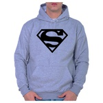 Moletom Unissex Superman - Cinza