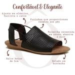 Sandália Rasteira Comfort Couro Legítimo Caramelo - Bolinha - 35-15