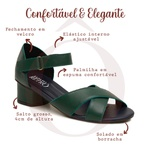 Sandalia Retrô Verde Cacto - Firenze - 600-25