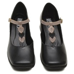 Sapato Boneca Retrô Preto e Nude - Coração - 913-19
