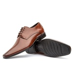 Sapato Social Masculino Fly Em Couro Whisky