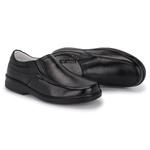Sapato Masculino Conforto em Couro Cor Preto REF.1447-11200