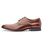 Sapato Social Masculino em Couro Whisky