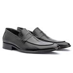 Sapato Loafer Masculino Em Couro Premium Preto
