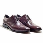 Sapatos Social Masculino em Couro cor Mahogany