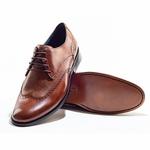 Sapato Social Masculino em Couro Cor Tan