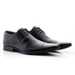 Sapato Social Clássico em Couro cor Preto Ref.1480-377