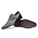 Sapato Monk Strap Masculino em Couro Preto