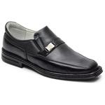 Sapato Conforto Levíssimo Em Couro Cor Preto Ref. 705-17008