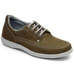 Sapato Masculino Comfort Sportive Em Couro Cor Oliva-724-2020-3