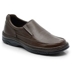 Sapato Masculino Em Couro Na Cor Café Linha Confort Ref. 562-2021