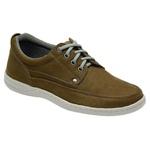 Sapato Masculino Linha Comfort Sportive Em Couro Cor Musgo Ref. 655-2020-3