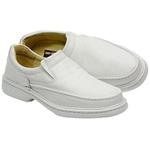 Sapato Conforto Em Couro Cor Branco Ref. 739-2001