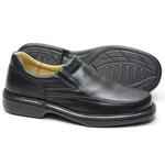 Sapato Conforto Em Couro Cor Preto Ref. 622-2001