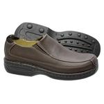 Sapato Conforto Em Couro Legitimo Na Cor Brown Ref.1097-16030