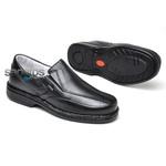Sapato Conforto Levíssimo Em Couro Preto Ref. 314-570