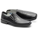 Sapato Linha Conforto Em Couro Na Cor Preto Ref. 577-2013