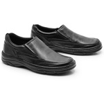 Sapato Masculino Em Couro Cor Preto Confort Ref. 561-2021