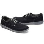 Sapato Masculino Linha Comfort Sportive Em Couro Cor Marinho Ref. 661-2020-3