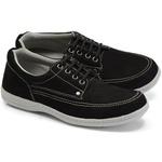 Sapato Masculino Linha Comfort Sportive Em Couro Cor Preto Ref. 660-2020-3