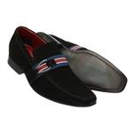 Sapato Social Camurça Preta Solado Em Couro Ref.1395- 17910-01