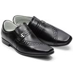 Sapato Social Tipo Italiano Em Couro Cor Preto Ref. 709-031