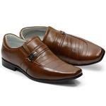 Sapato Social Tipo Italiano Em Couro Na Cor Whisky Ref. 703-033