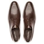 Sapato Brogue Em Couro Ref-2967 Café