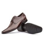 Sapato Social Masculino Fly Em Couro Ref-1004 Café