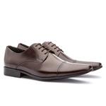 Sapato Social Masculino Fly Em Couro Ref-1009 Café