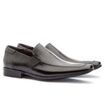 Sapato Social Masculino Fly Em Couro Ref-1014 Preto