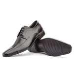 Sapato Social Masculino Fly Em Couro Ref-1024 Preto