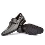 Sapato Social Masculino Fly Em Couro Ref-1029 Preto