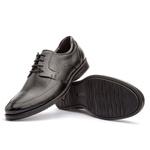 Sapato Social Masculino Gel Light Em Couro Ref-3200 Preto