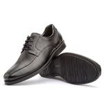 Sapato Social Masculino Gel Light Em Couro Ref-3201 Preto