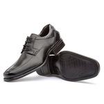 Sapato Social Masculino Kire Gel Em Couro Ref-1170 Preto