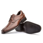 Sapato Social Masculino Kire Gel Em Couro Ref-1170 Whisky