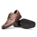 Sapato Social Masculino Kire Gel Em Couro Ref-1171 Whisky
