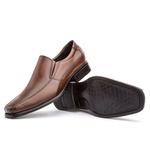 Sapato Social Masculino Kire Gel Em Couro Ref-1176 Whisky