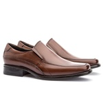 Sapato Social Masculino Kire Gel Em Couro Ref-1179 Whisky