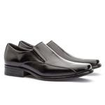Sapato Social Masculino Kire Gel Em Couro Ref-1189 Preto