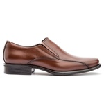 Sapato Social Masculino Kire Gel Em Couro Ref-1189 Whisky