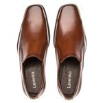 Sapato Social Masculino Kire Gel Em Couro Ref-1189 Whisky